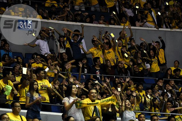 FEU's colorful 'sea of yellow green' gimmick fast catching attention of UAAP audience