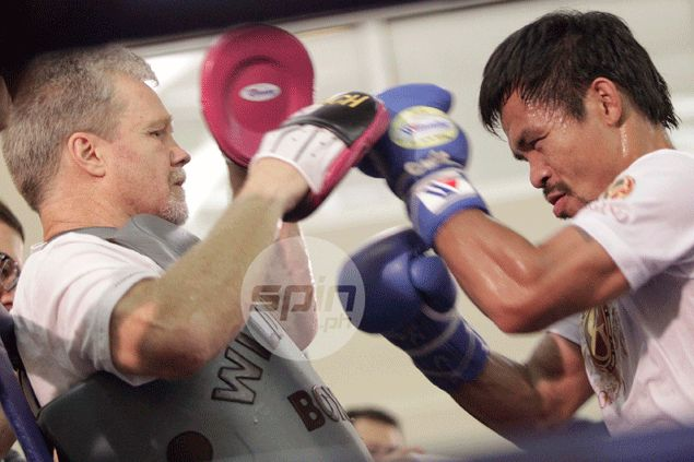 Commotion mars final day of Manny Pacquiao training as trainer Roach drives out 'spy'