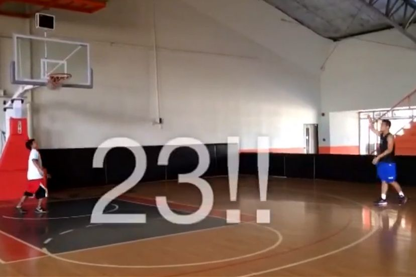 Video of Garvo Lanete three-point shooting practice goes viral. WATCH and find out why