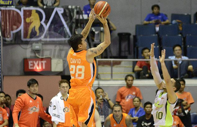 Gary David insists he won't be starved for shots while playing alongside Meralco import