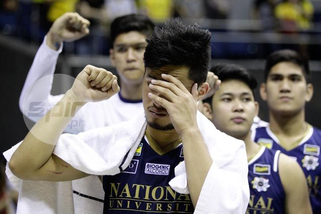 Gelo Alolino praises UST defense after firing blanks in final game for NU Bulldogs