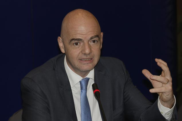 Fifa President Gianni Infantino lauds Leicester's Cinderella run in English Premier League