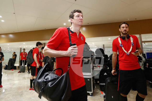 Turkey's twin towers Asik and Semih Erden.