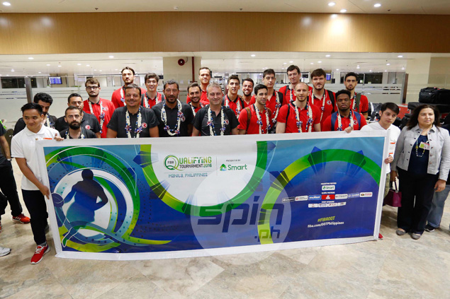 The Turkey national team was the first to arrive here for the Olympic Qualifying Tournament