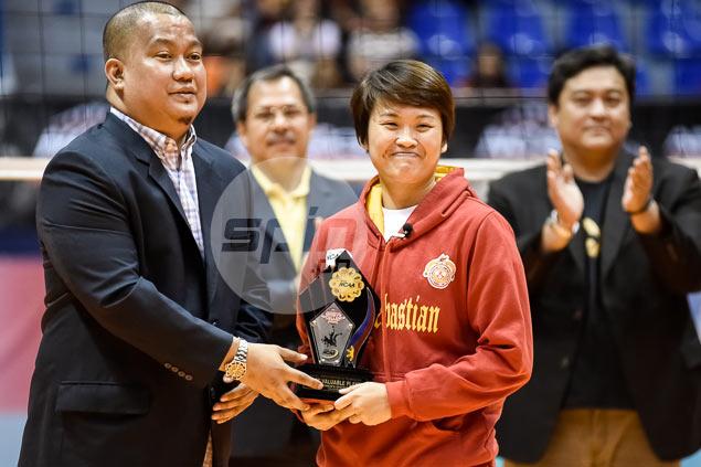 San Sebastian ace Gretcel Soltones wins second successive NCAA MVP award
