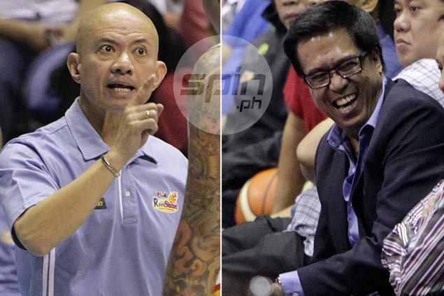 Friends Chito Narvasa, Yeng Guiao find selves on collision course over PBA officiating