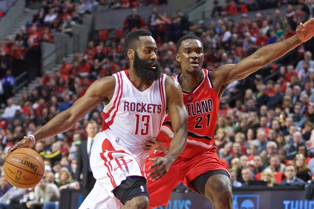 Harden waxes hot, Lillard turns cold as Rockets erase 21-point deficit to snap Blazers' 6-game win run