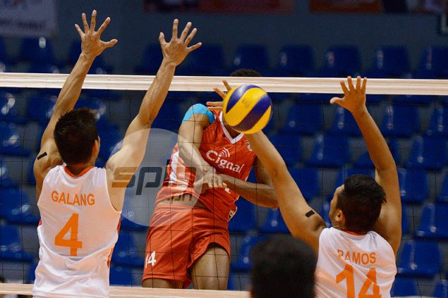 Cignal pulls stunner against fancied PLDT for rousing start in Spikers' Turf campaign