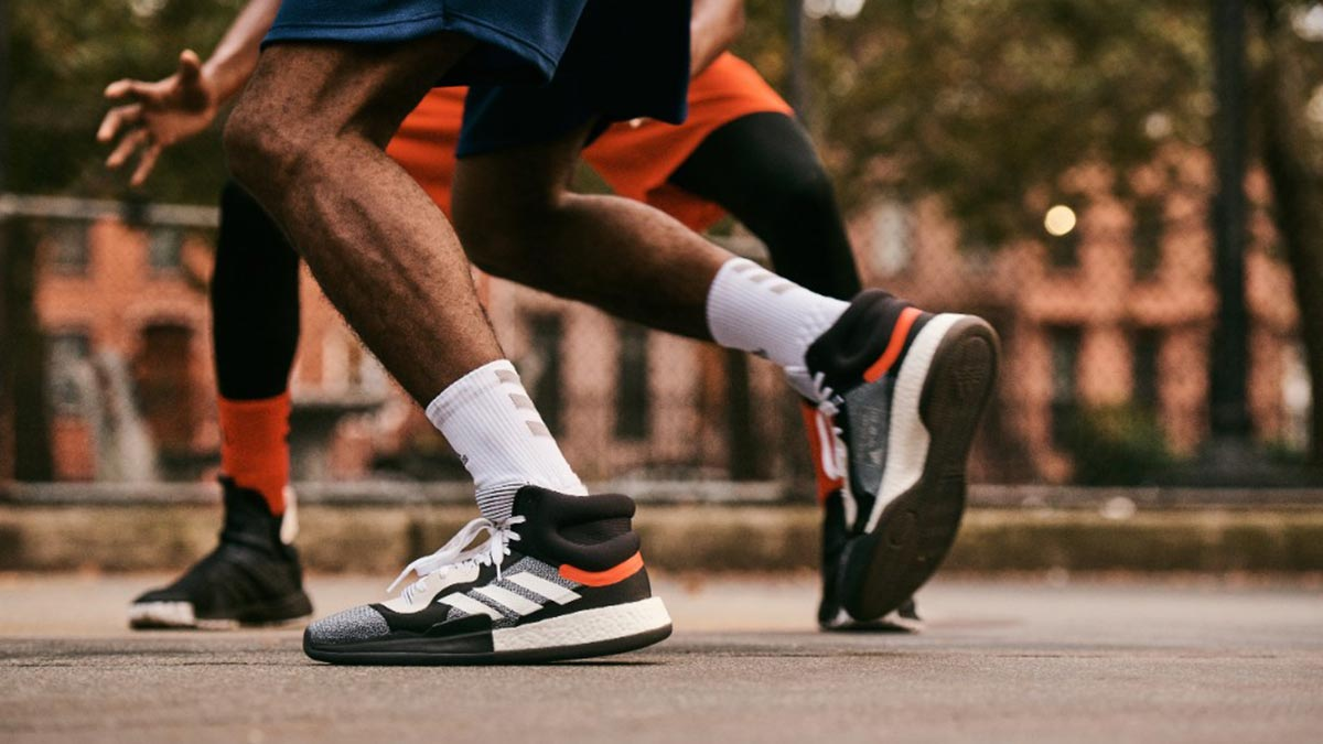 "official photos 8664b 48579 Dubbed as ""the most comfortable shoe in the game,"" this pair has mid-cut  and lowcut versions, both built with ""full-length Boost cushioning for  all-day ..."