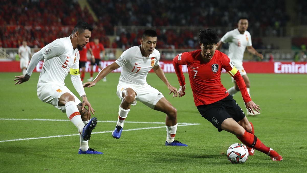 Image result for Son Heung-Min vs china