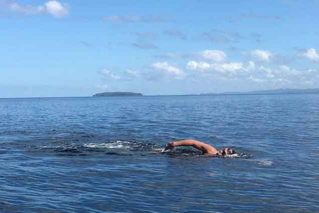 Open water swimmerMacarine chalks up another milestone with Surigao Strait feat
