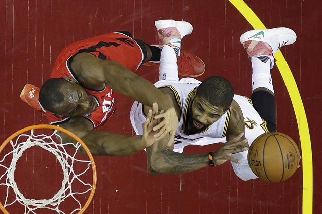 Cleveland playoff rampage rolls on as Kyrie Irving, LeBron James lead Cavs romp over Raptors
