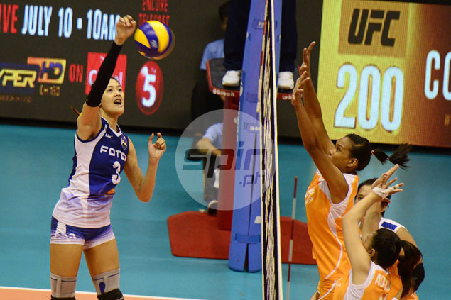 Jaja Santiago just as dominant despite shift in position from middle blocker to open spiker