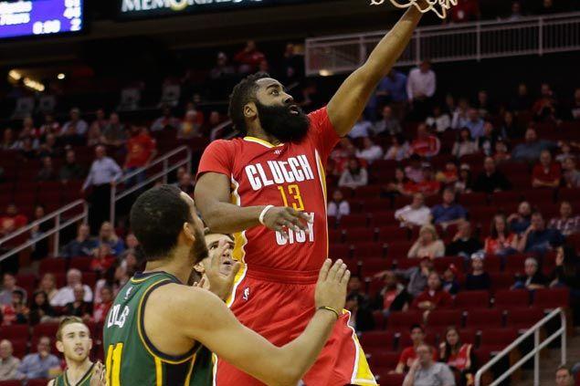 Harden propels shorthanded Rockets to hand Jazz's third straight loss