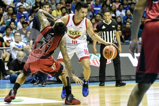 SMB's Ronald Tubid quick to shrug off elbow incident with close pal James Yap