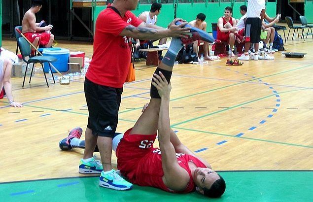 Hope for Ginebra as Japeth Aguilar joins practice ahead of Dubai game against Rain or Shine