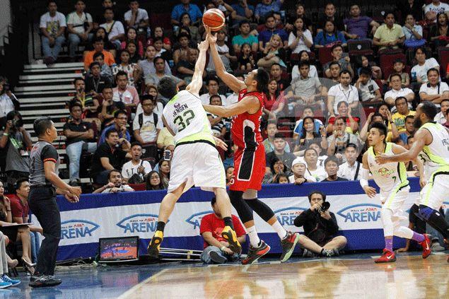Ginebra coach Frankie Lim demanded a great effort; Japeth Aguilar was all ears