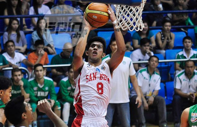Jaypee Mendoza's defense -- not just questionable foul -- frustrated Kevin Racal in Letran's loss to San Beda