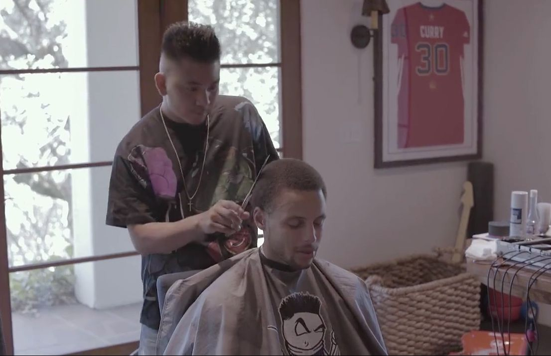 MVP Stephen Curry lets Fil-Am MVB (most valuable barber) take care of his hair
