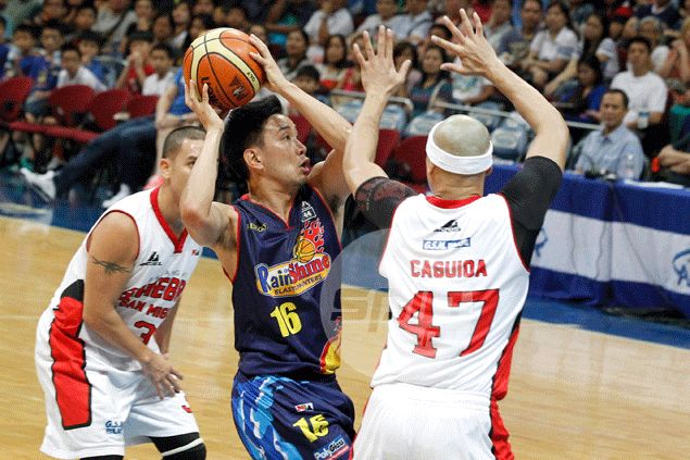 Jeff Chan's late steal and layup bail out Rain or Shine, send Ginebra to early vacation