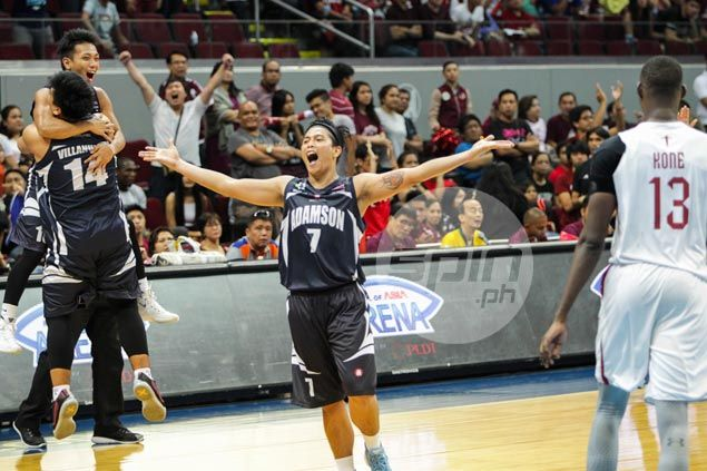 Adamson Falcons win first game of UAAP basketball season at expense of fading UP Maroons