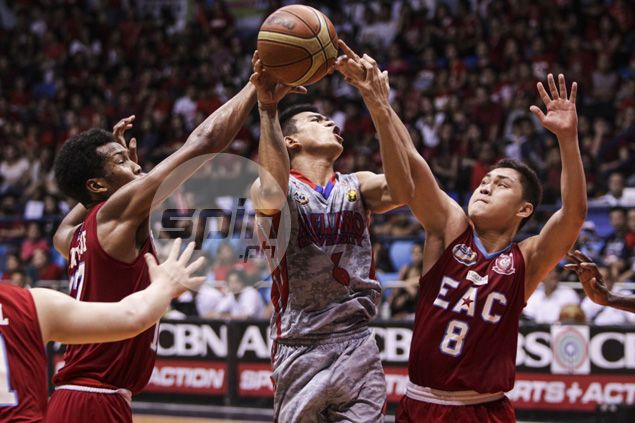 Jalalon triple-double enables Arellano to hold off EAC, gain at least a playoff for Final Four berth