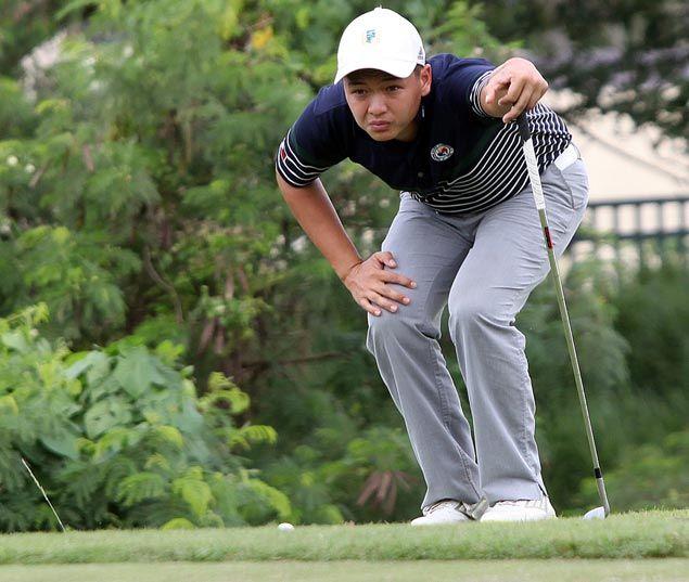 Jobim Carlos threatens to run away with PH Amateur golf title, opens six-shot lead