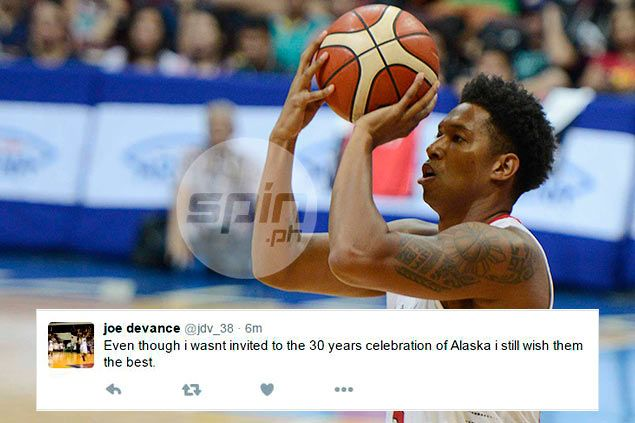 Joe Devance speaks up on not being invited to Alaska team's 30th-anniversary party