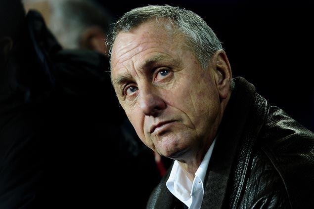 Dutch football great Johan Cruyff dies at age 68 after battle with lung cancer