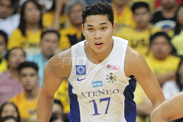 Ateneo suspends John Apacible for 'drunken rampage,' but ban won't extend to playoffs