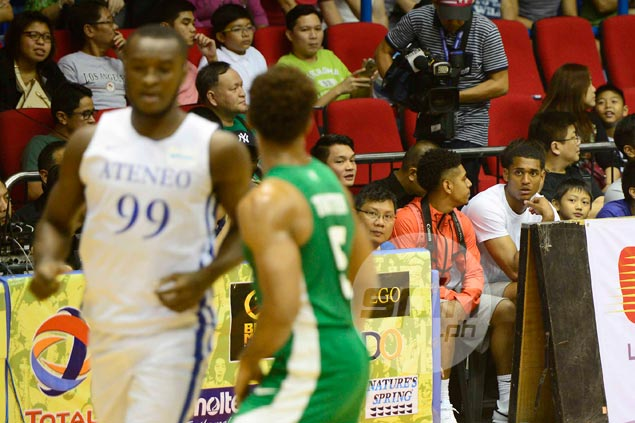 Jordan Clarkson a can't-miss presence at ringside during Ateneo-La Salle game