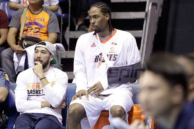 Blow for Meralco as import Josh Davis out of Game Three with hyperextended shoulder