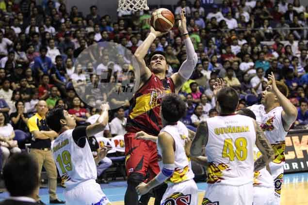 San Miguel knocking on PBA Finals door after rout of Rain or Shine in Game Five