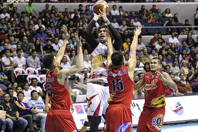 Is June Mar Fajardo being 'babied' by referees? San Miguel giant disagrees