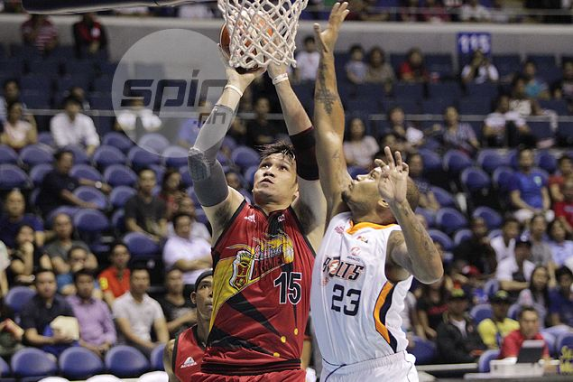 Beermen escape upset ax by routing Bolts to clinch remaining semifinals berth
