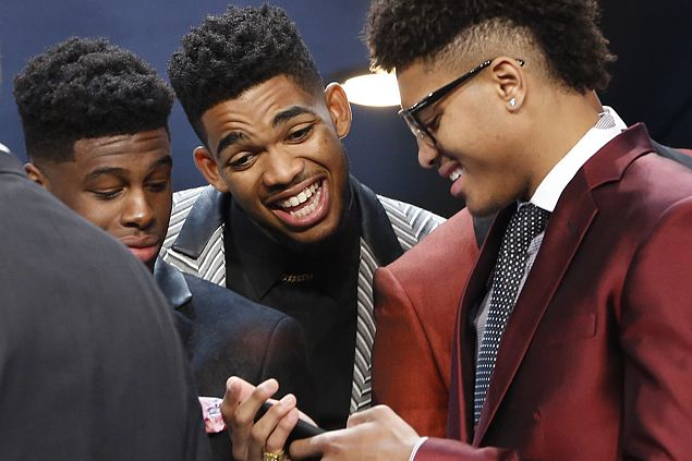 Top pick Karl-Anthony Towns likes Wolves' new look, wants Garnett to be his mentor