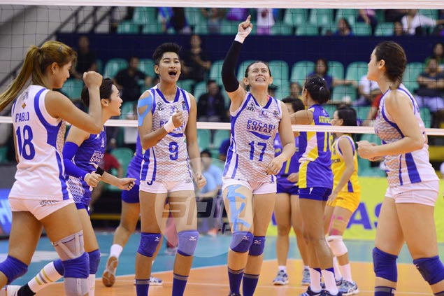 Pocari Sweat battles back from a set down to force V-League finals decider against Air Force
