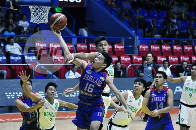 Arellano dynamic duo Jio Jalalon, Kent Salado put on a show in romp over winless Benilde