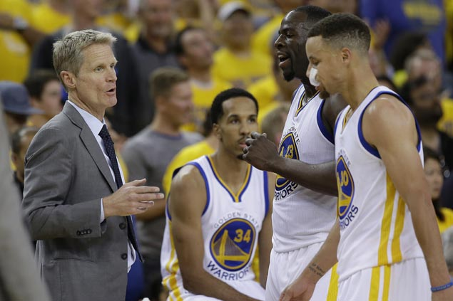 Shattering whiteboard or keeping cool, Steve Kerr pushes right buttons in Game 1