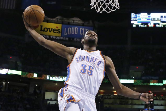 Durant, Westbrook lead Thunder past Hornets for sixth straight win