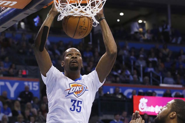 Kevin Durant leads six OKC players in double figures as Thunder take down Jazz for sixth straight win