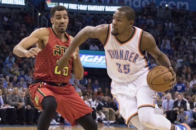 Kevin Durant's triple-double leads OKC Thunder past Hawks