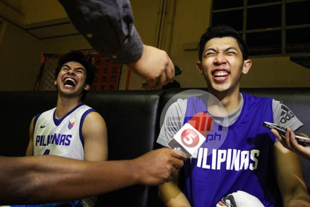 UAAP rivals Kevin Ferrer, Nash Racela find selves on same side in Gilas practice