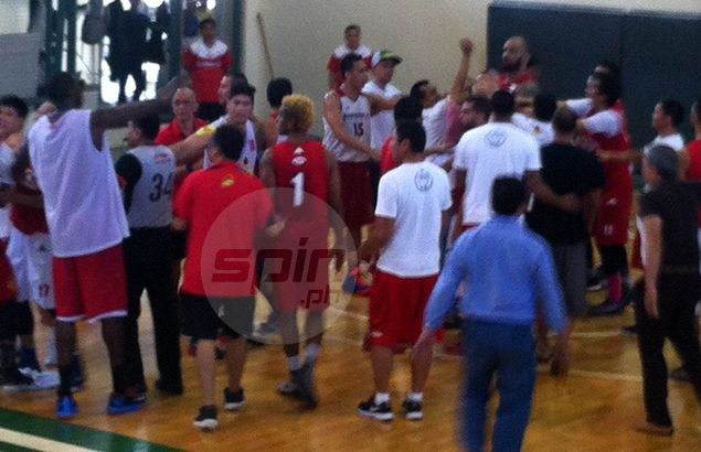 Another PBA tune-up called off by refs as Barako Bull, KIA players nearly come to blows