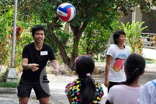 Top spikers, Ultimate players, actress Samonte take on new roles as Children's Welfare ambassadors