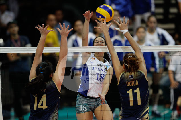 Alyssa Valdez glad to see super-sub Kim Gequillana's hardwork pay off for Lady Eagles