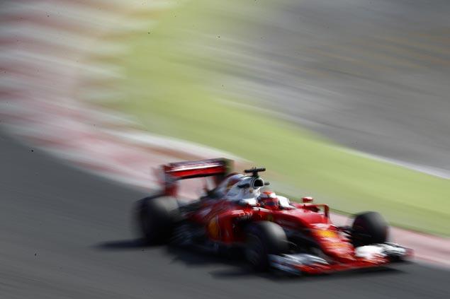 Ferrari's Kimi Raikkonen posts fastest preseason lap in F1 testing