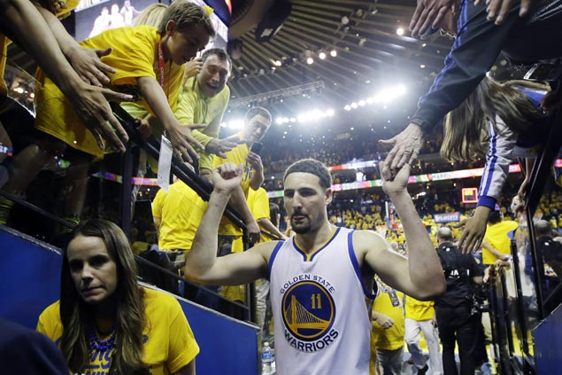 Klay Thompson stays in the background as silent leader for Warriors this playoffs