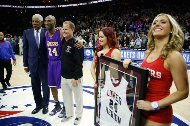 Sixers legend Julius Erving helps out as City of Brotherly Love pays tribute to Kobe Bryant
