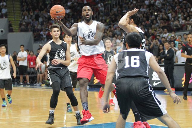 No go for third aerial show with LeBron James as Kobe Paras heads back to US